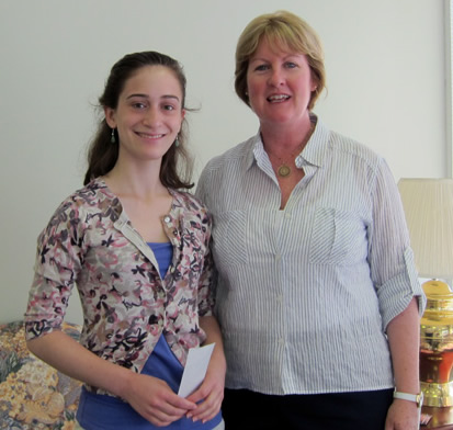2011 Melick Foundation Scholarship Winner: Lauren Glenn with vice president Mary Supple